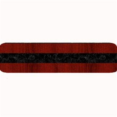 Stripes2 Black Marble & Red Wood Large Bar Mats