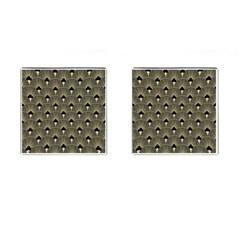 Art Deco Fan Pattern Cufflinks (square)