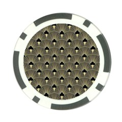 Art Deco Fan Pattern Poker Chip Card Guard