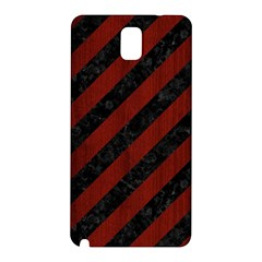 Stripes3 Black Marble & Red Wood (r) Samsung Galaxy Note 3 N9005 Hardshell Back Case