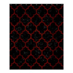 Tile1 Black Marble & Red Wood (r) Shower Curtain 60  X 72  (medium)