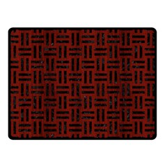 Woven1 Black Marble & Red Wood Double Sided Fleece Blanket (small)