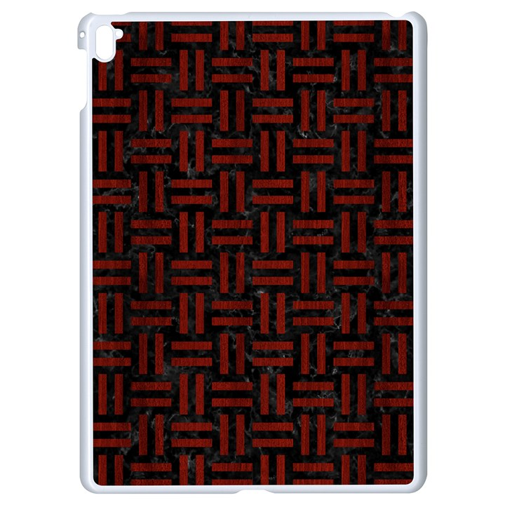 WOVEN1 BLACK MARBLE & RED WOOD (R) Apple iPad Pro 9.7   White Seamless Case