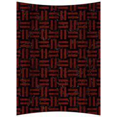 Woven1 Black Marble & Red Wood (r) Back Support Cushion