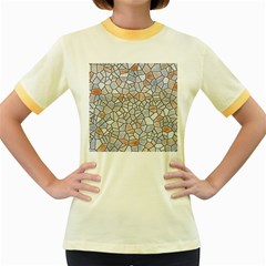 Mosaic Linda 6 Women s Fitted Ringer T Shirts