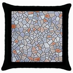 Mosaic Linda 6 Throw Pillow Case (black)