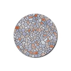 Mosaic Linda 6 Rubber Round Coaster (4 Pack)