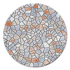 Mosaic Linda 6 Magnet 5  (round)