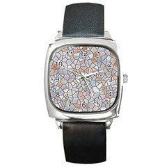 Mosaic Linda 6 Square Metal Watch