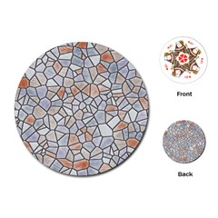 Mosaic Linda 6 Playing Cards (round)