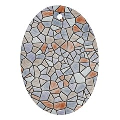 Mosaic Linda 6 Oval Ornament (two Sides)