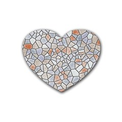 Mosaic Linda 6 Rubber Coaster (heart)