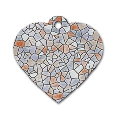 Mosaic Linda 6 Dog Tag Heart (one Side)
