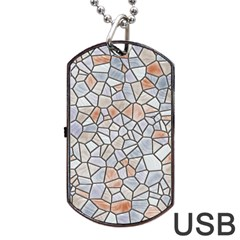 Mosaic Linda 6 Dog Tag Usb Flash (two Sides)
