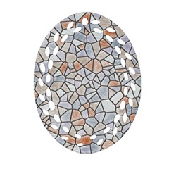 Mosaic Linda 6 Oval Filigree Ornament (two Sides)