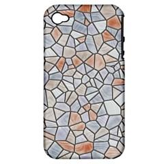 Mosaic Linda 6 Apple Iphone 4/4s Hardshell Case (pc+silicone)
