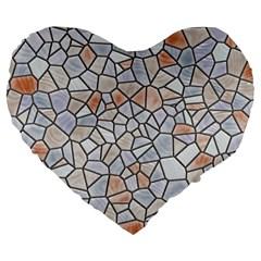 Mosaic Linda 6 Large 19  Premium Heart Shape Cushions