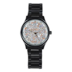 Mosaic Linda 6 Stainless Steel Round Watch