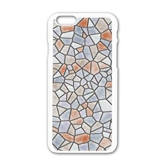 Mosaic Linda 6 Apple Iphone 6/6s White Enamel Case