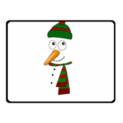 Cute Snowman Double Sided Fleece Blanket (small)