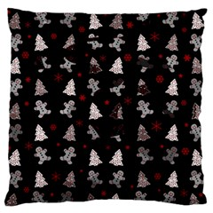Ginger Cookies Christmas Pattern Standard Flano Cushion Case (two Sides)