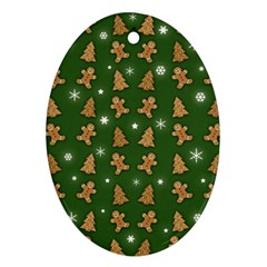 Ginger Cookies Christmas Pattern Ornament (oval)