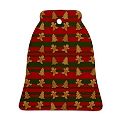 Ginger Cookies Christmas Pattern Ornament (bell)