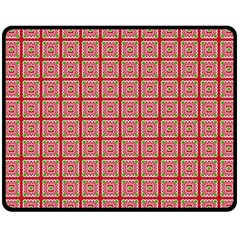 Christmas Paper Wrapping Paper Double Sided Fleece Blanket (medium)
