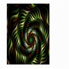 Fractal Christmas Colors Christmas Large Garden Flag (two Sides)