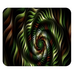 Fractal Christmas Colors Christmas Double Sided Flano Blanket (small)