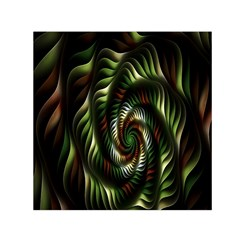Fractal Christmas Colors Christmas Small Satin Scarf (square)