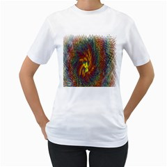 Fire New Year S Eve Spark Sparkler Women s T Shirt (white) (two Sided)