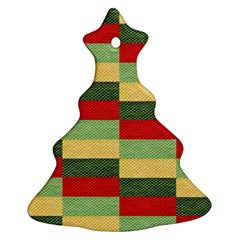 Fabric Coarse Texture Rough Red Ornament (christmas Tree)