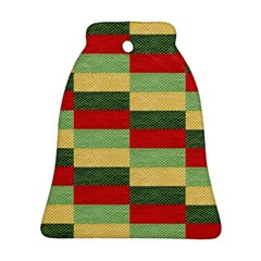 Fabric Coarse Texture Rough Red Ornament (bell)