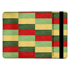 Fabric Coarse Texture Rough Red Samsung Galaxy Tab Pro 12 2  Flip Case