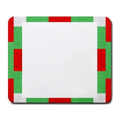 Fabric Christmas Red White Green Large Mousepads