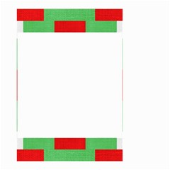 Fabric Christmas Red White Green Small Garden Flag (two Sides)