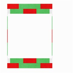Fabric Christmas Red White Green Large Garden Flag (two Sides)