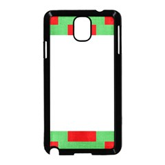 Fabric Christmas Red White Green Samsung Galaxy Note 3 Neo Hardshell Case (black)