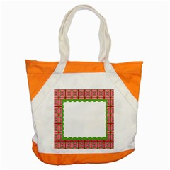 Frame Pattern Christmas Frame Accent Tote Bag