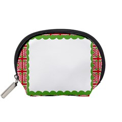 Frame Pattern Christmas Frame Accessory Pouches (small)
