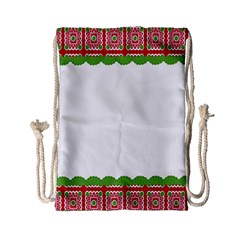 Frame Pattern Christmas Frame Drawstring Bag (small)