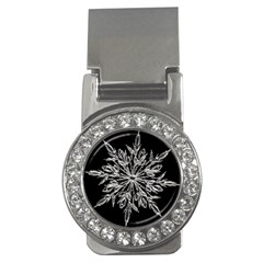 Ice Crystal Ice Form Frost Fabric Money Clips (cz)