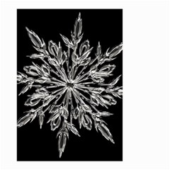 Ice Crystal Ice Form Frost Fabric Small Garden Flag (two Sides)