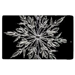 Ice Crystal Ice Form Frost Fabric Apple Ipad 3/4 Flip Case
