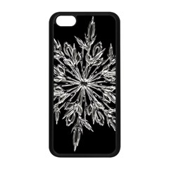 Ice Crystal Ice Form Frost Fabric Apple Iphone 5c Seamless Case (black)