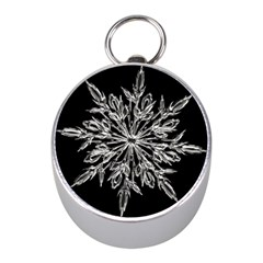 Ice Crystal Ice Form Frost Fabric Mini Silver Compasses