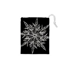 Ice Crystal Ice Form Frost Fabric Drawstring Pouches (xs)