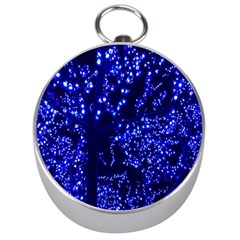 Lights Blue Tree Night Glow Silver Compasses