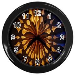 Light Star Lighting Lamp Wall Clocks (black)